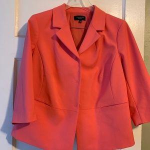 Talbots 16WP coral blazer